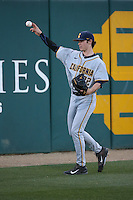 Daulton Jefferies (22) of the California Bears throws before a game against the Southern California Trojans at Dedeaux Field on March 18, 2016 in Los Angeles, California. California defeated Southern California, 5-4. (Larry Goren/Four Seam Images)