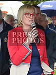 Cllr Sharon Keoghan speaking at the official opening of the new dressing rooms at St Mary's GFC Donore.  Photo:Colin Bell/pressphotos.ie
