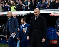 Real Madrid's coach Zinedine Zidane and UD Las Palmas'  coach Pako Ayestaran during La Liga match. November 5,2017. (ALTERPHOTOS/Inma Garcia)