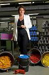 Thônex, le 21 mai 2013,Carole Hurschler, directrice de Caran D Ache, fabricant de couleurs et de crayons, ainsi que de stylo haut de gamme. © sedrik nemeth