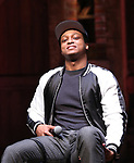 """J. Quinton Johnson from the 'Hamilton' cast during a Q & A before The Rockefeller Foundation and The Gilder Lehrman Institute of American History sponsored High School student #EduHam matinee performance of """"Hamilton"""" at the Richard Rodgers Theatre on 5/10/2017 in New York City."""