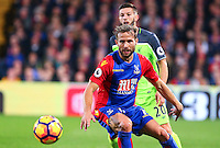 Yohan Cabaye and Adam Lallana during the EPL - Premier League match between Crystal Palace and Liverpool at Selhurst Park, London, England on 29 October 2016. Photo by Steve McCarthy.