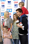 JENNY GARTH & LOLA RAY, LUCA BELLA, PETER & FIONA EVE FACINELLI. To help raise children's literacy awareness, Milk+Bookies hosted its 1st annual story time with celebrities volunteering to support the charity. At the Skirball Cultural Center. Los Angeles, CA, USA. February 28, 2010.