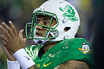Oct 07, 2015; Eugene, OR, USA; Oregon Ducks quarterback Vernon Adams Jr. (3) claps his hands before playing before playing California Golden Bears at Autzen Stadium. <br /> Photo by Jaime Valdez