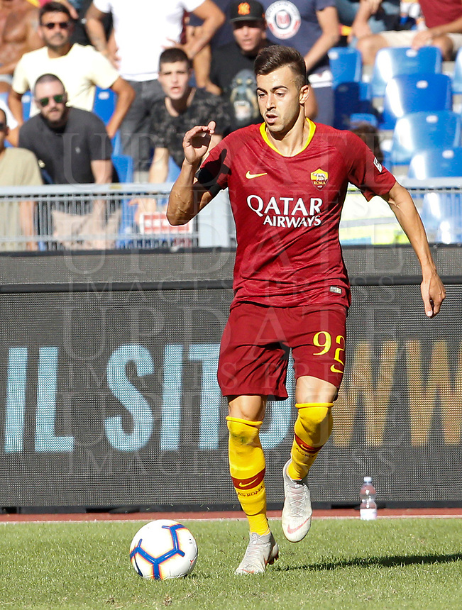 Roma's Stephan El Shaarawy in action during the Italian Serie A football match between Roma and Lazio at Rome's Olympic stadium, September 29, 2018. Roma won 3-1.<br /> UPDATE IMAGES PRESS/Riccardo De Luca