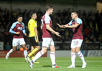 Burnley's Kevin Long celebrates scoring his sides first goal <br /> <br /> Photographer Mick Walker/CameraSport<br /> <br /> The Carabao Cup Round Three   - Burton Albion  v Burnley - Tuesday  25 September 2018 - Pirelli Stadium - Buron On Trent<br /> <br /> World Copyright © 2018 CameraSport. All rights reserved. 43 Linden Ave. Countesthorpe. Leicester. England. LE8 5PG - Tel: +44 (0) 116 277 4147 - admin@camerasport.com - www.camerasport.com