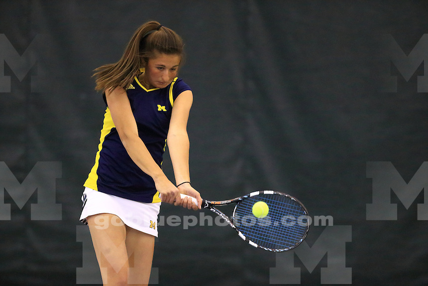 The University of Michigan women's tennis team loses to Northwestern, finishing in second place in the 2014 Big Ten Women's Tennis Tournament at Northwestern University in Evanston, IL on April 26, 2014.