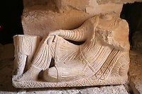 Funerary relief depicting a reclining man, Valley of Tombs, late 3rd century AD, Palmyra, Syria Picture by Manuel Cohen