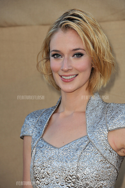 Caitlin FitzGerald at the CBS 2013 Summer Stars Party in Beverly Hills.<br /> July 29, 2013  Los Angeles, CA<br /> Picture: Paul Smith / Featureflash