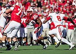 Wisconsin Badgers running back James White (20) carries the ball during an NCAA Big Ten Conference college football game against the Indiana Hoosiers on October 15, 2011 in Madison, Wisconsin. The Badgers won 59-7. (Photo by David Stluka)
