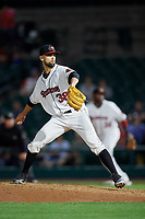 Rochester Red Wings relief pitcher Nick Anderson (38) delivers a pitch during a game against the Pawtucket Red Sox on May 19, 2018 at Frontier Field in Rochester, New York.  Rochester defeated Pawtucket 2-1.  (Mike Janes/Four Seam Images)