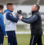 05.02.2019: Rangers training: James Tavernier and Tom Culshaw