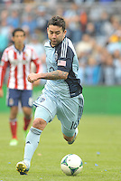 Claudio Bieler (16) forward Sporting KC in action..Sporting Kansas City defeated Chivas USA 4-0 at Sporting Park, Kansas City, Kansas.