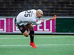 AMSTELVEEN -  Justin Reid-Ross (Adam)   tijdens de hoofdklasse competitiewedstrijd heren, AMSTERDAM-ROTTERDAM (2-2). COPYRIGHT KOEN SUYK