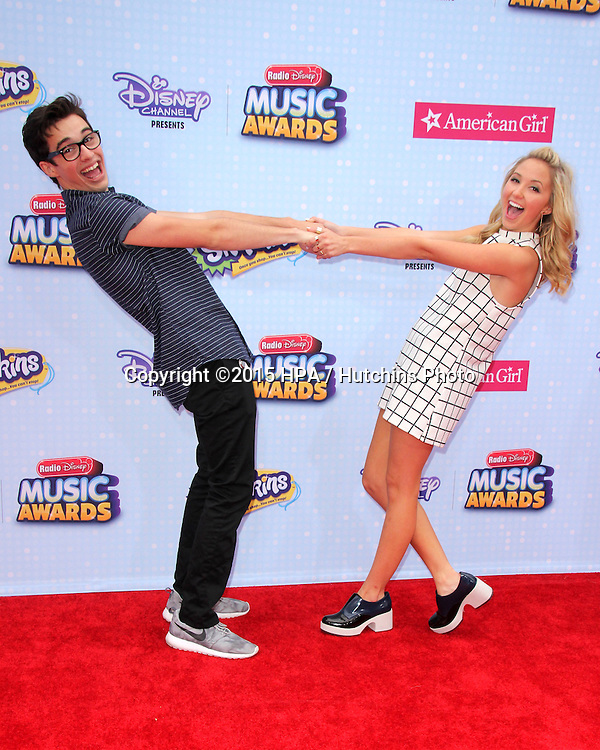 LOS ANGELES - FEB 25:  Joey Bragg, Audrey Whitby at the Radio DIsney Music Awards 2015 at the Nokia Theater on April 25, 2015 in Los Angeles, CA