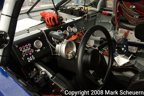 13 June 2008: Interior of Patrick Carpentier's Dodge at the LifeLock 400 at Michigan International Speedway, Brooklyn, Michigan, USA.