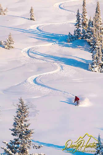 S-turn carving on Teton Pass