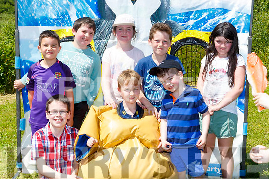 Enjoying the St Josephs NS Castlemaine funday on Sunday front row l-r: Darragh Lynch, Liam Linehan, Aodain Foley, Back row: Darragh Nagle, Tommy O'Connor, Emma Gore, Cian loughnane and Laura Gore
