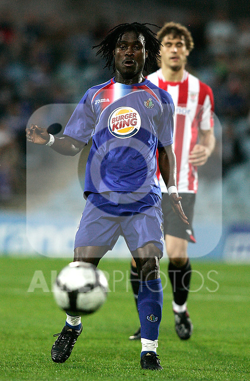 Getafe's Derek Boateng during La Liga match. October 25, 2009. (ALTERPHOTOS/Alvaro Hernandez).