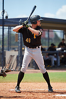 Pittsburgh Pirates Conner Uselton (48) at bat during a Florida Instructional League game against the New York Yankees on September 25, 2018 at Yankee Complex in Tampa, Florida.  (Mike Janes/Four Seam Images)