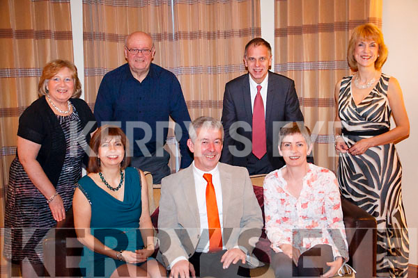 Front L-R Carol and Martin Thompson, Anne O'Connor. <br /> Back L-R Pamela and Chris Kettle, David and Caroline Warner. Celebrating the new year in the Brook Lane Hotel.