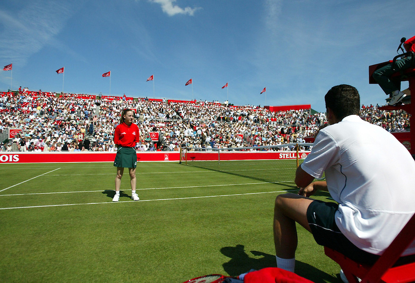 Photograph: Scott Heavey..Day 1 of the Stella Artois Championship at the Queens Club. 09/06/2003..Richard Krajicek