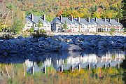 East Branch of the Pemigewasset River in Lincoln, New Hampshire USA during the autumn months.