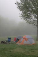 A foggy morning at the Steel Creek Campground on the Buffalo National River.
