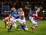 Lee Wallace untangles himself from a mass of Hamilton legs