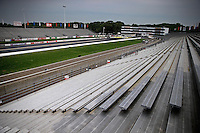 May 30, 2013; Englishtown, NJ, USA: Overall view from the grandstands of Raceway Park. Mandatory Credit: Mark J. Rebilas-