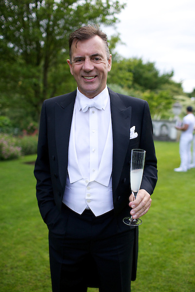 Duncan Bannatyne wears white tie at Elton John's White Tie and Tiara Ball