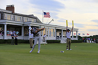 Dustin Johnson (USA) tees off the 14th tee during Saturday's Round 3 of the 118th U.S. Open Championship 2018, held at Shinnecock Hills Club, Southampton, New Jersey, USA. 16th June 2018.<br /> Picture: Eoin Clarke | Golffile<br /> <br /> <br /> All photos usage must carry mandatory copyright credit (&copy; Golffile | Eoin Clarke)
