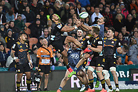 5th July 2020; Hamilton, New Zealand;  Etene Nanai-Seturo and Kobus Van Wyk.<br />