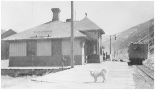 RGS Goose #4 at Placerville depot.<br /> RGS  Placerville, CO