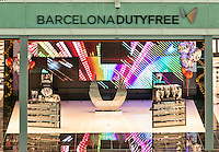 Dutyfree shop at the Barcelona airport, Spain