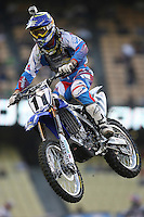 01/22/11 Los Angeles, CA:  Kyle Chisholm during the 1st ever AMA Supercross held at Dodger Stadium.
