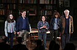 "Talene Monahon, Hugh Dancy, Stockard Channing, Megalyn Echikunwoke and John Tillinger during the Opening Night Curtain Call Bows for the Roundabout Theatre Company production of ""Apologia"" on October 16, 2018 at the Laura Pels Theatre in New York City."