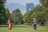 Shugo Imahira (JPN) looks over his approach shot on 6 during round 2 of the World Golf Championships, Mexico, Club De Golf Chapultepec, Mexico City, Mexico. 2/22/2019.<br /> Picture: Golffile | Ken Murray<br /> <br /> <br /> All photo usage must carry mandatory copyright credit (© Golffile | Ken Murray)