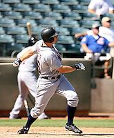 Casper Wells / Mesa Solar Sox hits a two-run homer off Max Scherzer in the Arizona Fall League opener at Phoenix Municipal Stadium in a game against the Phoenix Desert Dogs..Photo by:  Bill Mitchell/Four Seam Images