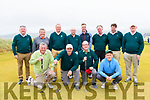 The Waterville team at the start of the Pierce Purcell Golf Tournament at Ceann Sibéal, Baile an Fheiréaraigh.