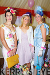 Catherine Keane, Listowel, Kate Ferguson, Derry and Nollaig McCarthy, Finuge pictured at Listowel races on Sunday.