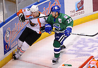 Connecticut Whale vs. Adirondack Phantoms AHL hockey action.  XL Center