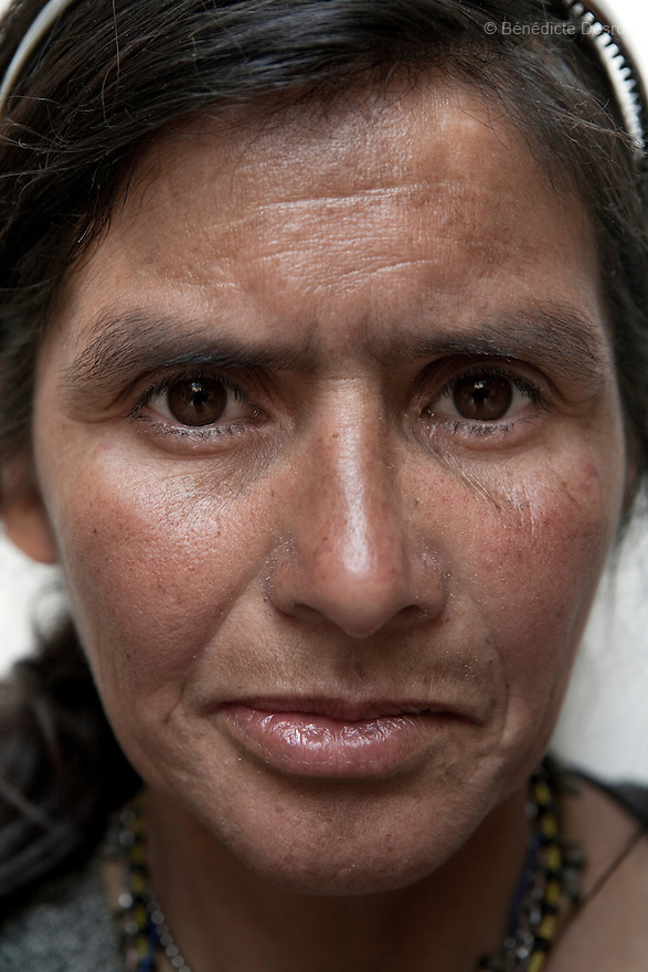 Portrait of Anita, a resident of Casa Xochiquetzal, at the shelter in Mexico City on March 14, 2008. Casa Xochiquetzal is a shelter for elderly sex workers in Mexico City. It gives the women refuge, food, health services, a space to learn about their human rights and courses to help them rediscover their self-confidence and deal with traumatic aspects of their lives. Casa Xochiquetzal provides a space to age with dignity for a group of vulnerable women who are often invisible to society at large. It is the only such shelter existing in Latin America. Photo by Bénédicte Desrus