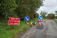 Roadworks, Bleasedale, Preston, Lancashire.
