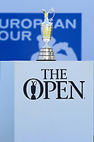 The open trophy at the 1st tee during the BMW PGA Golf Championship at Wentworth Golf Course, Wentworth Drive, Virginia Water, England on 26 May 2017. Photo by Steve McCarthy/PRiME Media Images.