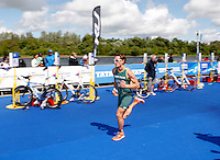 Photo: Richard Lane/Richard Lane Photography. GE Strathclyde Park Triathlon. 22/05/2011. Elite Men race. Chris Hayward.
