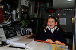 Hannah Black at the open day in the clogherhead lifeboat station<br /> Picture: Fran Caffrey www.newsfile.ie
