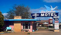 The Blue Swallow Motel located on old Route 66 in Tucumcari, New Mexico.