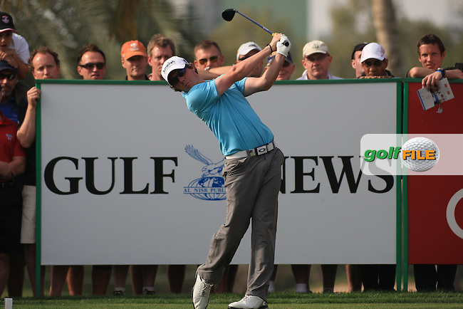 Rory McIlroy (NIR) in action during the second round of the Omega Dubai Desert Classic 2011 on the Majlis Course, Emirates Golf Club, Dubai, UAE. 11/02/2011.Picture Fran Caffrey/www.golffile.ie.