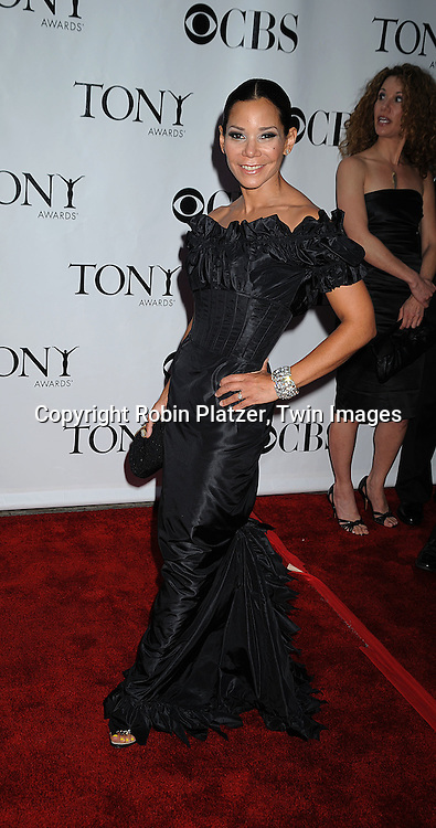 Daphne Ruben-Vega.posing for photographers at the 62nd Annual Tony Awards.on June 15, 2008 at Radio City Music Hall. ..Robin Platzer, Twin Images